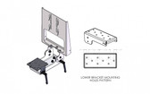 Havis Folding monitor and Keyboard Mount C-MKM-103