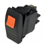 Havis Switch Black Paddle Type Rocker W/Lock Tab, 20 Amps, 18 Volt, On/Off 3 Prong C-SW-1-L
