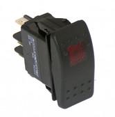 Havis Black Paddle Type Rocker Switch, 20 Amps, 18 Volt, Off/On/On 5 Prong C-SW-3