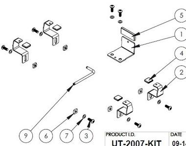 "Havis Adaptor Kit to secure Apply iPad Pro (12.9"") in Universal Rugged Cradle UT-2001 UT-2007-KIT"