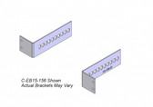 "Havis 2-Piece Equipment Mounting Bracket, 1.5"" Mounting Space, 1.25"" Bend C-EB15-125"