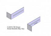 "Havis 2-Piece Equipment Mounting Bracket, 1.5"" Mounting Space, 2.06"" Bend C-EB15-206"