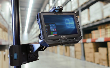 Gamber Johnson Getac UX10 Tablet Cradle with 120W Auto Power Adapter (TRI RF-SMA) 7170-0738-03 Mounted