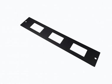 "Havis 1.5"" Switch Plate, Internal Mount, 3 Horizontal Switch Cutouts C-PS-3"