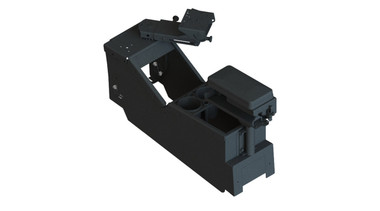 """Gamber Johnson 2020+ Ford Police Interceptor® Utility Low-Profile Console Box with Cup Holder, Printer Armrest, and 9"""" Locking Slide Arm Kit 7170-0734-09"""