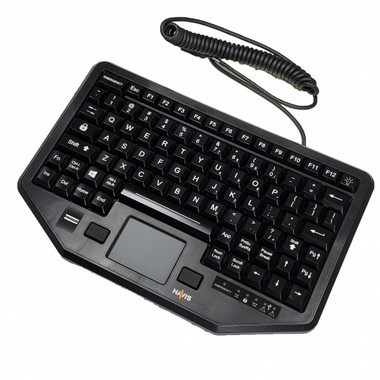 Havis Compact USB Dual Authentication Keyboard with Integrated Mouse KB-104