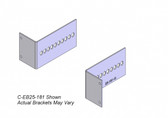 "Havis 2-Piece Equipment Mounting Bracket, 2.5"" Mounting Space, 1.43"" Bend C-EB25-143"