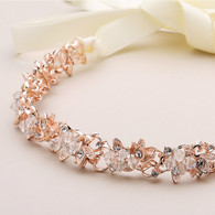 Rose Gold, bridal head band.