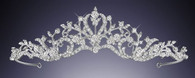 Features sparkling and high quality czech rhinestones of different sizes intricately designed. This tiara is the perfect complement to any bridal style.