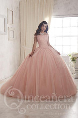 Rose petal Quinceanera dress.