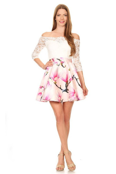 Floral homecoming dress.