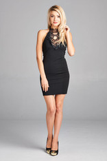 Halter top homecoming dress.