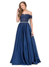 off the shoulder, satin skirt, prom dress.