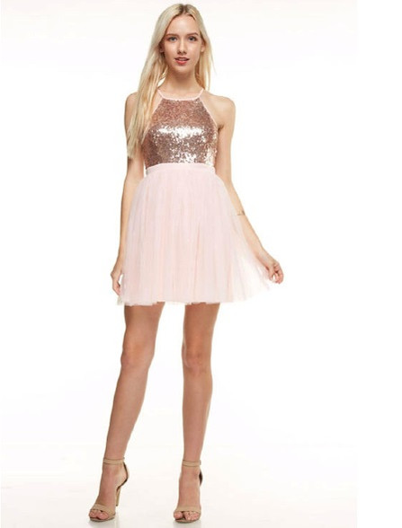 Short homecoming dress.