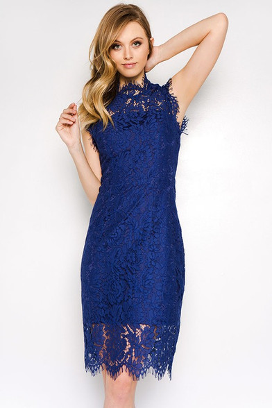 Navy, cocktail dress.