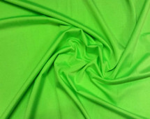 Satin Lycra Silky Finish Bright Green