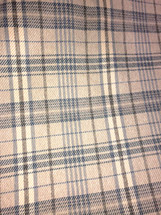 BULL DENIM CHECKERED PLAID UPHOLSTERY FABRIC BROWNS SHADES YARN DYE