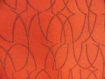 "UNIQUE ABSTRACT ART DECO RED DESIGN DRAPERY UPHOLSTERY FABRIC 11 YDS X 55"" NEW"