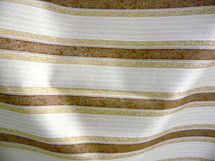 "UPHOLSTERY DRAPERY CLASSIC DESIGNED STRIPES RED GOLD BY THE YARD & 55"" WIDE"