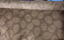 DRAPERY UPHOLSTERY FABRIC JACQUARD LEAVES DESIGN ANTIQUE CHOCOLATE BY THE YARD