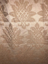 DRAPERY UPHOLSTERY FABRIC JACQUARD EMBROIDERY CLASSIC ROSE GOLD SOFT