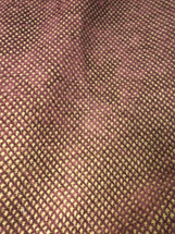 KRAVET CHENILLE UPHOLSTERY FABRIC BURGUNDY WITH GOLD DIAMONDS 21098 24