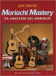 "12 classic mariachi songs are featured in this new bilingual method, Mariachi Mastery, from the Neil A. Kjos Music Company. Each song is preceded by graduated exercises to help your students learn to play in the correct style - from Ranchera Valseada to Son Jalisciense. The CD that comes with each student book is ideal for home practice use. Frequent ""Mastering Mariachi"" lessons will give your students the edge they need to sound like professional mariachi musicians! Songs include: De Colores, La Bamba, La Llorona, Tristes Recuerdos, and El Caballito!  Mariachi Mastery is perfect for use by a traditional mariachi ensemble. The optional Viola (112VA), and Cello & Bass (112CO) books will make this an ideal supplement to your string orchestra curriculum - or add those instruments to make a ""symphonic"" mariachi! All studies and songs are playable by Violinists, Violists, and Trumpeters who have completed one year of study on their instrument. Guitarists and Harpists may begin their instrument with Mariachi Mastery!  Songs Included: De Colores La Valentina Las Golodrinas La Adelita Tristes Recuerdos La Raspa El Caballito La Bamba El Súchil La Llorona El Son de Mi Tierra María Chuchena"