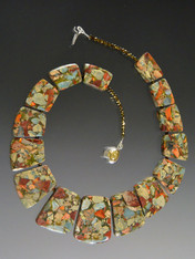 Composite Jasper Pyrite Collar