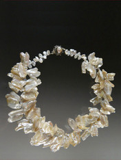 Opulent Freeform White Pearl Collar