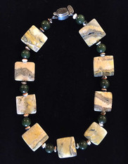 Jade and MultiColored Jasper Collar
