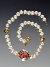 Grade AAA Pearls with Venetian 24K  Rare Sasso Collar - ONLY TWO!
