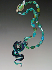 Rare Venetian Serpent Chrysocolla Necklace- ONE  OF A KIND (SOLD)