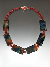 Multi Agate Carnelian Collar