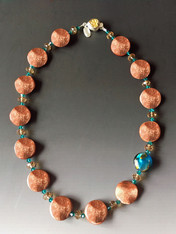 Goldstone Wave Venetian Bead