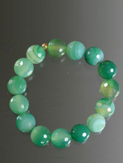 Multi-Toned Green Agate Stretch Bracelet