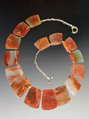 Geometric Pale Jasper Sterling Silver Collar
