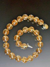 Art Deco Vintage Lucite/Bakelite Rutilated Quartz Collar