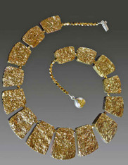Gold Geometric Crystal Coated Collar