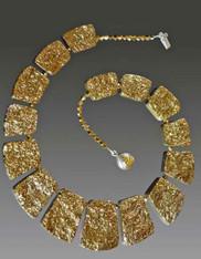 Gold Geometric Crystal Coated Collar