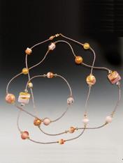 Petal Pink 24K Gold Venetian Rope