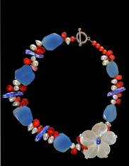 July 4th Flower Necklace