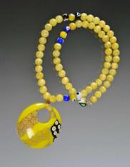 Yellow Jade Venetian Pendant