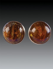 Amy Kahn Russell African Amber Sterling Clip/Post Earrings
