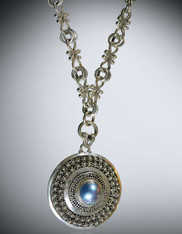 Mabe Pearl Pendant on Vintage Sterling Chain