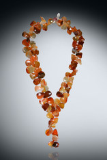 Hand Carved Carnelian Leaf Necklace - SOLD
