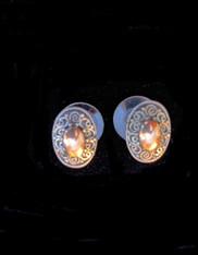 Handmade Bali Sterling Silver Swirl 18K Gold Stud Earrings