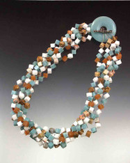 Tropical jade, aventurine, jasper Toggle Torsade