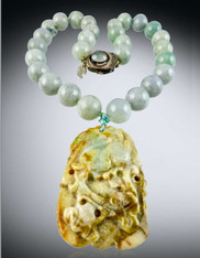 Burmese Jade  with Ancient Jade Pendant ONE-OF-KIND
