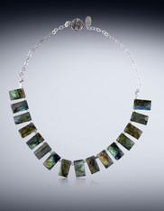Grade AAA Labradorite Sterling Silver Collar