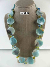 Amazonite Scallop Necklace
